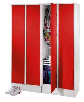 Garderobenschrank - mit Schuhfach und Ablagefläche lichtgrau /