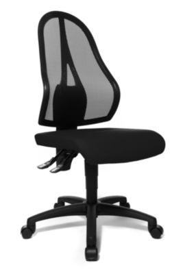 Bürodrehstuhl, Permanentkontakt-Mechanik und Flachsitz - ohne