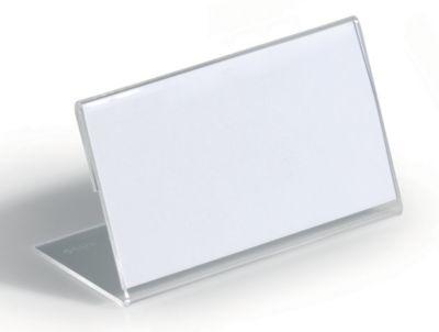 Tischnamensschild aus Acryl - L-Form, HxB 52 x 100 mm VE 40