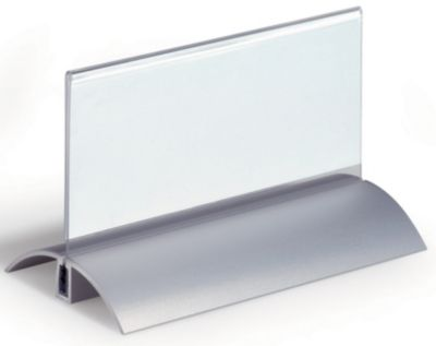 Tischnamensschild, Acryl mit Aluminiumfuß - HxB 61 x 150 mm VE