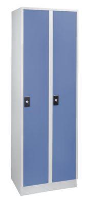 Garderobenschrank, Fachhöhe 1700 mm - 2 Abteile à 300 mm Breite