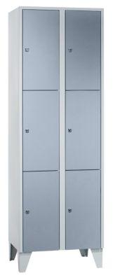 Schließfachschrank - 2 Abteile, 6 Fächer Breite 600 mm,