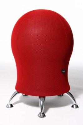 SITNESS 6 Design-Hocker - mit integriertem Gymnastikball rot