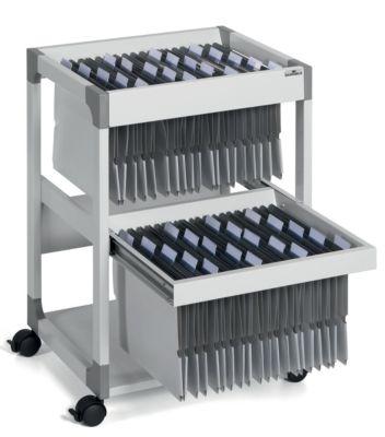 Hängemappenwagen MULTI DUO von Durable - für 80 Mappen, 2 Etagen mit