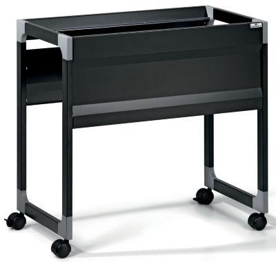 Hängemappenwagen von Durable - für 90 Mappen, 1 Etage schwarz