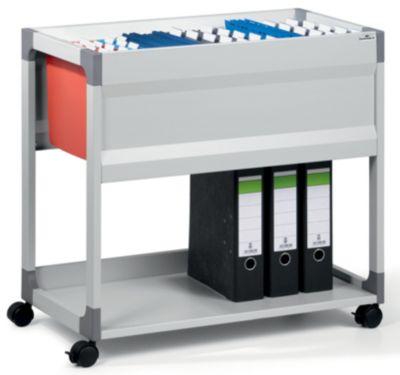 Hängemappenwagen von Durable - für 90 Mappen, 1 Etage, 1 Ablageboden