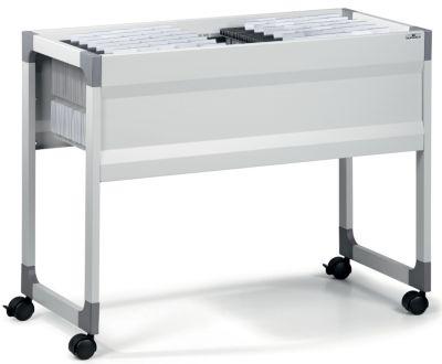 Hängemappenwagen von Durable - für 100 Mappen, 1 Etage lichtgrau