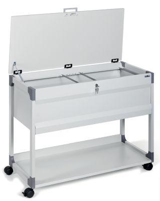 Hängemappenwagen mit Deckel von Durable - für 100 Mappen, 1 Etage, 1