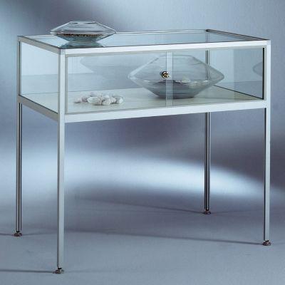 INSIDE Tischvitrine - 5-seitig verglast, Sichthöhe 250 mm HxBxT 900 x