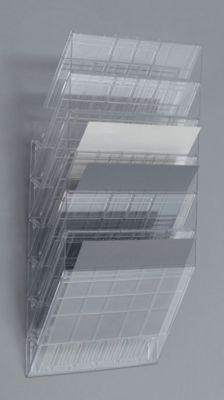 Wandprospektspender - Querformat, 6 x DIN A4, VE 2 Stk