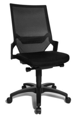 Operator-Drehstuhl mit Muldensitz - Gestell schwarz,