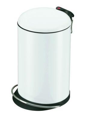 Design-Tretabfalleimer - Volumen 14 Liter weiß