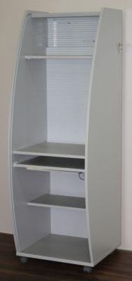 office akktiv Computerschrank mit Kunststoffrollladen, mobil - Basic