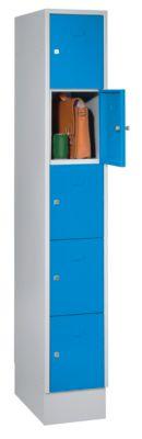 Schließfachwürfel - 5 Fächer, einbrennlackiert Fachbreite 298 mm,
