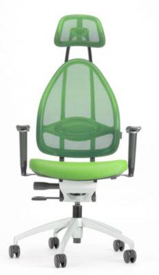 Design-Bürodrehstuhl, mit Kopfstütze und Netzrücken -