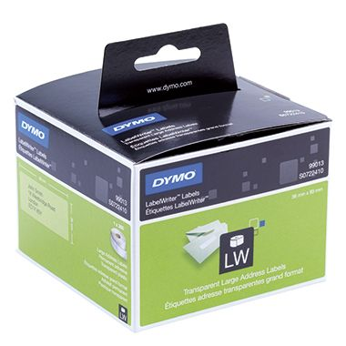 DYMO Adressetikett S0722410 36x89mm transparent 260 St./Rl. -