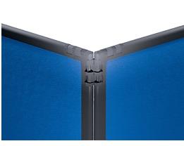 filz raumteiler mit schiefergrauem rahmen. Black Bedroom Furniture Sets. Home Design Ideas
