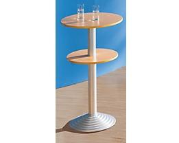 Table de caf t ria avec pied en fonte for Distance entre table et luminaire