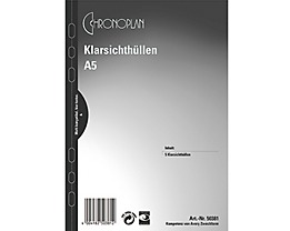 Chronoplan Visitenkartenhülle 50381 148x215mm transparent 5 St./Pack.