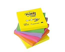 Post-it Haftnotiz Z-Notes Neon R330NR sortiert 6 St./Pack.