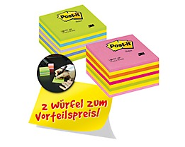 Post-it Haftnotizwürfel 2028NX2 neonpink/neongrün 2 St./Pack.