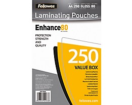 Fellowes Laminierfolie Enhance 80 5312903 DIN A4 tr 250 St./Pack.