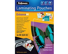 Fellowes Laminierfolie Enhance 80 53022 DIN A4 tr 100 St./Pack.