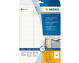 HERMA Outdoor Etikett Special 9532 63,5x33,9mm weiß 240 St./Pack.