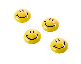 magnetoplan Magnet Smilies 16671 20mm gelb 8 St./Pack
