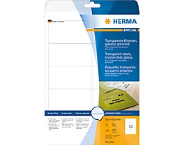 HERMA Folienetikett 8018 96x50,8mm tr 250 St./Pack.