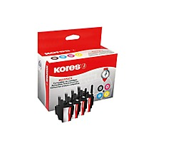 Kores Tintenpatrone G1524KIT wie Brother LC1240 sw/c/m/y 4 St./Pack.