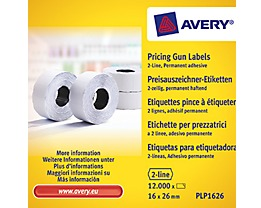Avery Zweckform Endlosetikett PLP1626 16x26mm 12.000 St./Pack.