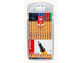 STABILO Fineliner point 88 0,4mm farbig sortiert 10 St./Pack.