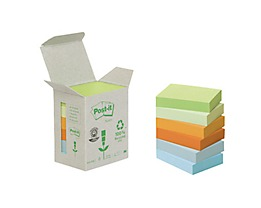 Post-it Haftnotiz Recycling Notes Pastel 6 St./Pack.