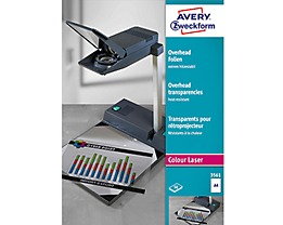 Avery Zweckform Laserfolie 3561 DIN A4 transparent 50 St./Pack.