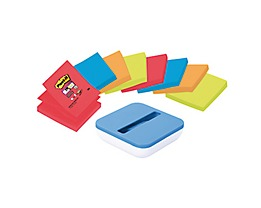 Post-it Haftnotiz Z-Notes VAL-B8P 90Bl. sortiert 8 St./Pack. +Spender
