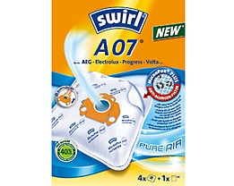 Swirl Staubsaugerbeutel A 07 MicroPor Plus AirSpace 4 St./Pack.