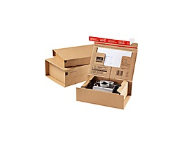 ColomPac Versandkarton POST-BOX CP066.02 21,5x4,3x15,5cm braun