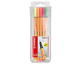 STABILO Fineliner point 88 8805-1 0,4mm farbig sortiert 5 St./Pack.