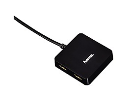 Hama USB-Hub 00012131 USB 2.0 1:4 bus-powered schwarz