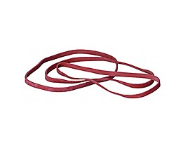 Gummiband 4x80mm rot 1.000 g/Pack.