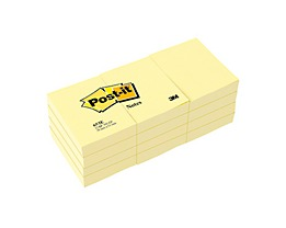 Post-it Haftnotiz Notes    gelb  St./Pack.