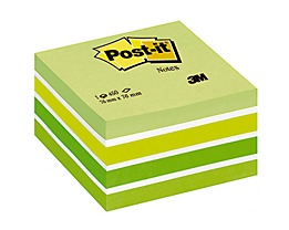Post-it Haftnotizwürfel 76x45x76mm 450Blatt