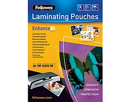 Fellowes Laminierfolie Enhance 80 5306114 DIN A4 tr 100 St./Pack.