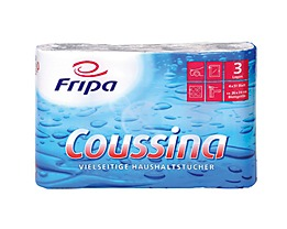 fripa Küchenrolle Coussina 3204002 3-lagig weiß 4 St./Pack.