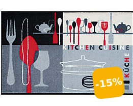 Design Fußmatte Kitchen Crockery