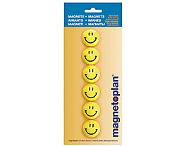 magnetoplan Magnet Smilies 16672 30mm gelb 6 St./Pack