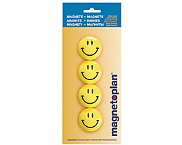 magnetoplan Magnet Smilies 16673 40mm gelb 4 St./Pack