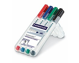 STAEDTLER Whiteboardmarker Lumocolor 341 WP4 4 St./Pack