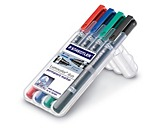 STAEDTLER Permanentmarker Lumocolor duo 348 WP4 0,6mm/1,5mm 4 St./Pack.